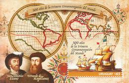 2019 Uruguay Magellan Explorer Maps Circumnavigation Of Globe Ships Souvenir Sheet MNH - Uruguay