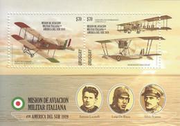 2019 Uruguay Italy Military Aviation Airplanes Souvenir Sheet MNH - Uruguay