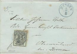 Hannover 2 Auf Brief Einkreisstempel Münden - Hanovre