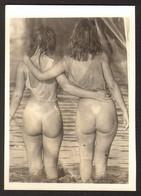 Pin Up Nude Two Women Girls Old Photo 9x6 Cm #25524 - Pin-ups