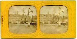 Photo Stéréoscopique Couleur  Diorama Par  Transparence  - Le Havre - Les Docks   ( H 140 ) - Stereoscoop