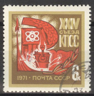 Sowjetunion 3866 O Parteitag KPdSU - Gebraucht