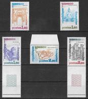 France 1981 - Service 5 Valeurs - UNESCO  Y&T N° 68/69/70/71/72 ** Neufs Luxe 1er Choix (TTB). - Neufs