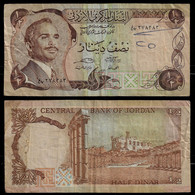 JORDAN BANKNOTE - 1/2 DINAR (1975-92) P#17e F/VF (NT#03) - Jordan