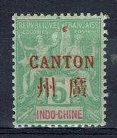 Canton (Bureau Français En Chine), 5c., Type Groupe D'Indochine Surchargé CANTON, 1901, *, TB - Unused Stamps