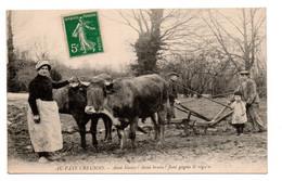 Gueret - Au Pays Creusois - Attelage - Labourage -  Anni Blanco ! Anni Bruno ! Faut Gagna Lé Régain - RARE -  CPA° - Other Municipalities