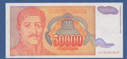 YUGOSLAVIA - P.142 – 50.000 Dinara 1994 - UNC  Prefix AA - Jugoslavia
