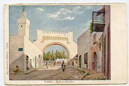CPA TUNISIE TUNIS Bab El Khadra  D'Amico Dos Simple Non écrite - Tunesië