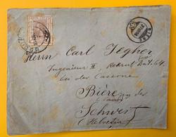 13488 - Lettre Bucuresti 27.08.1896 Pour Bière Suisse 2 Scans Voir Affranchissement Au Verso - Covers & Documents