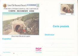 ROMANIA 1998: LIONS CLUB, COAL MINE, HORSES, Unused Prepaid Stationery Card - Registered Shipping! - Interi Postali