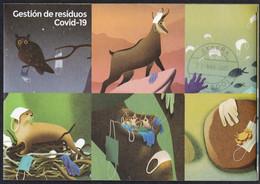 2021-ED. 5463 H.B. EN DÍPTICO. CONTIENE 6 TARJETAS POSTALES TARIFA 'A' Parques Naturales- Gestión De Residuos COVID-19 - - 2011-... Used