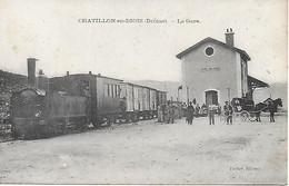 26 - CHATILLON-en-DIOIS - La Gare - Tramway à Vapeur - Compagnie Des Chemins De Fer Départementaux De La Drôme - Châtillon-en-Diois
