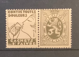 PU 8-10 Cent Heraldieke Leeuw Faivre POSTFRIS - Pubblicitari