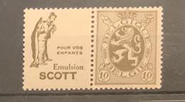 PU 13 -10 Cent Heraldieke Leeuw Scott Enfants POSTFRIS - Pubblicitari