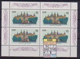 GERMANIA DEMOCTATICA  DDR MINIFOGLIO 1986 CASTELLI UNIF. 3032 MNH XF (MINIFOGLIO DA 4 VALORI) - FDC: Ersttagsblätter
