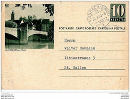 """21-81 - Entier Postal Avec Illustration """"Laufenburg"""" Cachet  à Date Erlenbach 1963 - Attention Légers Plis - Entiers Postaux"""