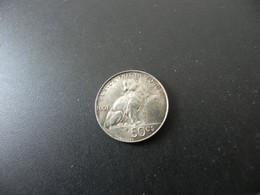 Belgique 50 Centimes 1901 Silver - 06. 50 Centimes