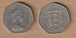 JERSEY  50  Pence - Elizabeth II -1980 Copper-nickel • 13.5 G • ⌀ 30 Mm KM# 34 - Jersey