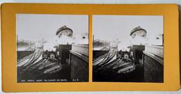 PHOTO STÉRÉO  PARIS - GARE DU CHAMP DE MARS  - Ed. S.I.P - TBE - Stereoscopio