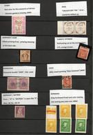 Collection Of Error Stamps , From Germany SAAR,BAYREN,HONDURAS,TURKEY (OTTMAN),IRAK, ROMANIA,DUBAI & CHILE. - Verzamelingen (zonder Album)