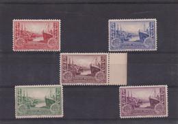 Expo Philatélique Le Havre 1929 Les 5 Vignettes - Philatelic Fairs