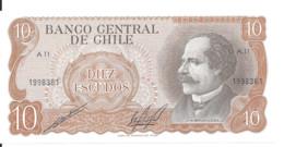 CHILI 10 ESCUDOS ND1970 UNC P 142 - Chile