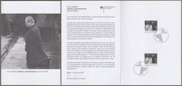 """Bund: Minister Card - Ministerkarte, Mi-Nr. 3579 ESST, """" Willy Brandt: - Kniefall Von Warschau Vor 50 Jahren - """"  X - Storia Postale"""