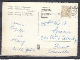 Postkaart Van Brugge Naar Forest - 1951-1975 Heraldic Lion