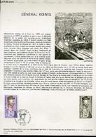 DOCUMENT PHILATELIQUE OFFICIEL N°12-74 - GENERAL KOENIG (1898 - 1970) (N°1796 YVERT ET TELLIER) - PHEULPIN J. - 1974 - Lettres & Documents