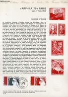 DOCUMENT PHILATELIQUE OFFICIEL N°15-75 - ARPHILA 75 CERES - PARIS - ART ET PHILATELIE - MUSIQUE ET DANSE - RAMBEAU - SAI - Lettres & Documents