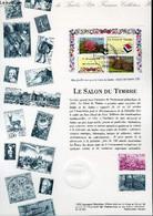 DOCUMENT PHILATELIQUE OFFICIEL - LE SALON DU TIMBRE (N°BF 5 YVERT ET TELLIER) - LAMBERT PIERRETTE - 1993 - Lettres & Documents