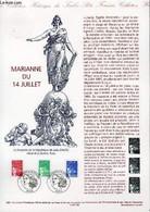 DOCUMENT PHILATELIQUE OFFICIEL - MARIANNE DU 14 JUILLET (N°3083-3091-3095 YVERT ET TELLIER) - JUMELET - 1997 - Lettres & Documents