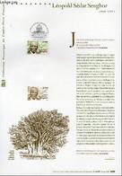 DOCUMENT PHILATELIQUE OFFICIEL - LEOPOLD SEDAR SENGHOR 1906-2001 (N°3537 YVERT ET TELLIER) - BESSER V. - 2002 - Lettres & Documents