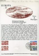 DOCUMENT PHILATELIQUE OFFICIEL N°15-77 - EUROPA 77 - SITES & PAYSAGES - VILLAGE PROVENCAL - PORT BRETON (N°1928-29 YVERT - Lettres & Documents