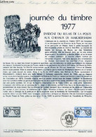 DOCUMENT PHILATELIQUE OFFICIEL N°11-77 - JOURNEE DU TIMBRE 1977 - ENSEIGNE DU RELAIS DE LA POSTE AUX CHEVAUX DE MARCKOLS - Lettres & Documents