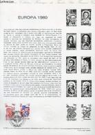 DOCUMENT PHILATELIQUE OFFICIEL N°12-80 - EUROPA 1980 SAINT BENOIT (N°2085-86 YVERT ET TELLIER) - *** - 1980 - Lettres & Documents
