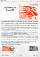 DOCUMENT PHILATELIQUE OFFICIEL N°11-85 - HYDRAVION CAM 53 (N°AV 58 YVERT ET TELLIER) - JUMELET C. - DE JOUX J. - 1985 - Lettres & Documents