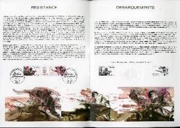 DOCUMENT PHILATELIQUE OFFICIEL N°15-84 - 40°ANNIVERSAIRE DE LA LIBERATION - RESISTANCE - DEBARQUEMENT (N°2312-13 YVERT E - Lettres & Documents
