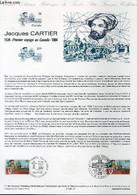 DOCUMENT PHILATELIQUE OFFICIEL N°11-84 - JACQUES CARTIER 1534 - PREMIER VOYAGE AU CANADA 1984 (N°2307 YVERT ET TELLIER) - Lettres & Documents