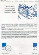 DOCUMENT PHILATELIQUE OFFICIEL N°27-87 - GRENOBLE - 6° CONGRES INTERNATIONAL DES TRANSPORTS A CABLES (N°2463 YVERT ET TE - Lettres & Documents