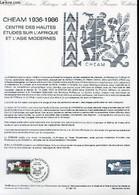 DOCUMENT PHILATELIQUE OFFICIEL N°15-86 - CHEAM 1936-1986 - CENTRE DES HAUTES ETUDES SUR L'AFRIQUE ET L'ASIE MODERNE (N°2 - Lettres & Documents