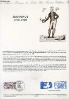 DOCUMENT PHILATELIQUE OFFICIEL N°11-89 - BARNAVE 1761-1793 (N°2568 YVERT ET TELLIER) - FORGET P. - 1989 - Lettres & Documents