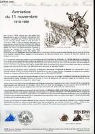 DOCUMENT PHILATELIQUE OFFICIEL N°33-88 - ARMISTICE DU 11 NOVEMBRE 1918-1988 (N°2549 YVERT ET TELLIER) - ALBUISSON - 1988 - Lettres & Documents