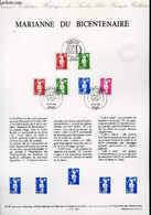 DOCUMENT PHILATELIQUE OFFICIEL N°35-91 - MARIANNE DU BICENTENAIRE (N°2711-12 2714-17 YVERT ET TELLIER) - JUMELET - 1991 - Lettres & Documents