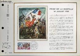 FEUILLET ARTISTIQUE PHILATELIQUE - CEF - N° 176 - PRISE DE LA BASTILLE 14 JUILLET 1789 - COLLECTIF - 1971 - Lettres & Documents