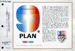 FEUILLET ARTISTIQUE PHILATELIQUE - CEF - N° 753 - 9° PLAN MODERNISATION DE LA FRANCE 1984-1988 - COLLECTIF - 1984 - Lettres & Documents