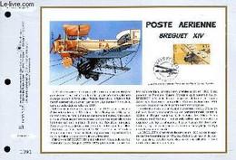 FEUILLET ARTISTIQUE PHILATELIQUE - CEF - N° 1353 - POSTE AERIENNE : BREGUET 14 - COLLECTIF - JUMELET CLAUDE - 1997 - Lettres & Documents