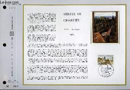 FEUILLET ARTISTIQUE PHILATELIQUE SUR SOIE - CEF - ABBAYE DE CHARLIEU - SERIE TOURISTIQUE - N° 198S - N°12 SOIE - COLLECT - Lettres & Documents