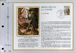 FEUILLET ARTISTIQUE PHILATELIQUE SUR SOIE - CEF - PROTECTION DE LA NATURE - LE GRAND DUC - N° 195S - N°9 SOIE - COLLECTI - Lettres & Documents