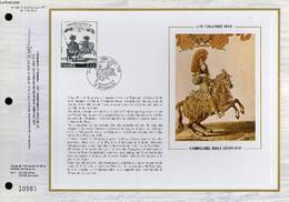 FEUILLET ARTISTIQUE PHILATELIQUE SUR SOIE - CEF - CARROUSEL SOUS LOUIS 14 - LES TUIELRIES 1662 - N° 435S - N°256 SOIE - - Lettres & Documents